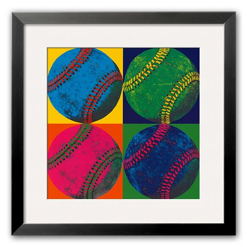"Art.com ""Ball Four: Baseball"" Medium Framed Art Print"