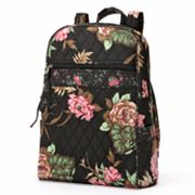 Lily Waters Becky Night Garden Roses Quilted Backpack
