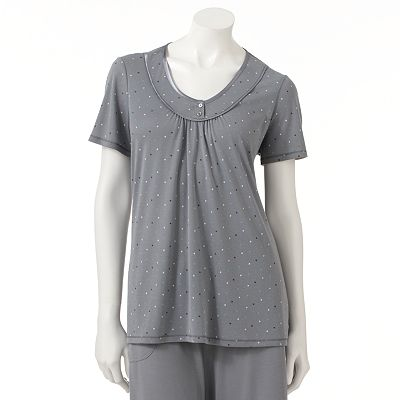 Croft and Barrow Balancing Act Pajama Henley - Women's Plus