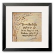 Art.com Enjoy The Little Things Framed Art Print by Karen Tribett