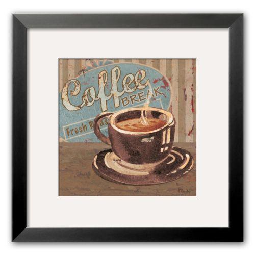 Art.com Coffee Brew Sign I Black Framed Art Print by Paul Brent