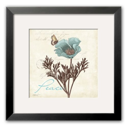 Art.com Touch of Blue I (Peace) Framed Art Print by Katie Pertiet