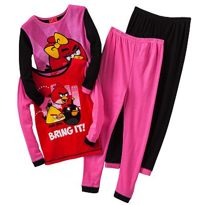 Angry Birds Bring It Pajama Set - Girls