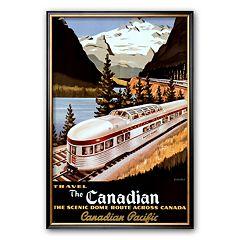 Art.com 'Canadian Pacific Train' Framed Art Print by Roger Couillard