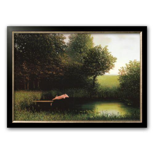 Art.com Kohler's Pig Framed Art Print by Michael Sowa