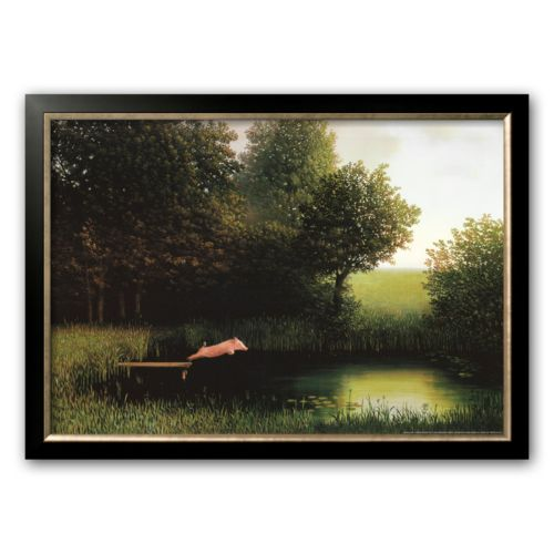 Art.com Kohler's Pig Framed Art Print by Michael Sowa