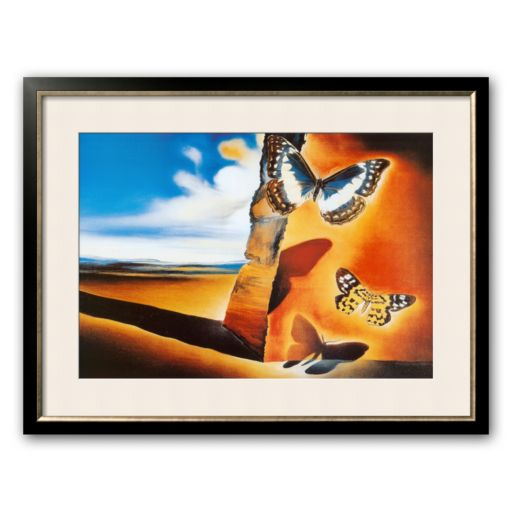 "Art.com ""Landscape with Butterflies"" Large Framed Art Print by Salvador Dali"