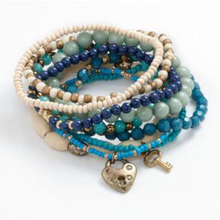 Mudd® Gold-Tone Bead Stretch Bracelet Set