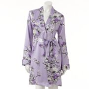 Apt. 9 Floral Bouquet Satin Wrap Robe