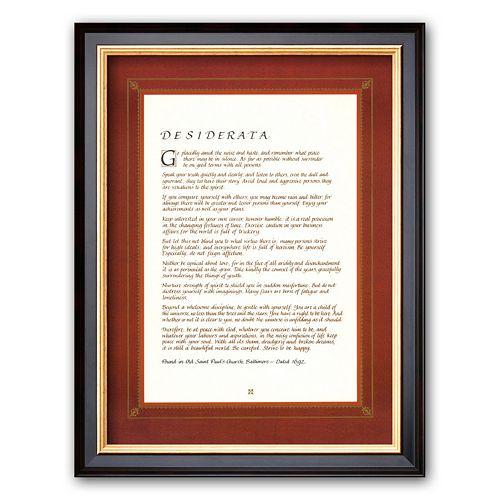 """Art.com """"Desiderata"""" Framed Art Print"""