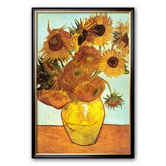 Art.com 'Sunflowers, c.1888' Framed Art Print by Vincent van Gogh