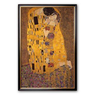"""Art.com """"The Kiss, c.1907"""" Large Framed Art Print by Gustav Klimt"""