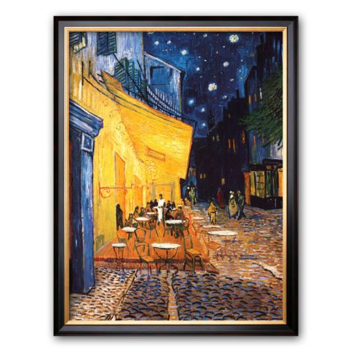 Art.com The Cafe Terrace on the Place du Forum, Arles, at Night, c.1888 Framed Art Print by Vincent van Gogh