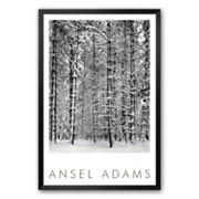 Art.com 'Pine Forest in Snow, Yosemite National Park, 1932' Framed Art Print by Ansel Adams