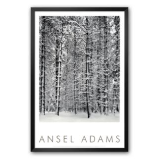 Art.com Pine Forest in Snow, Yosemite National Park, 1932 Framed Art Print by Ansel Adams