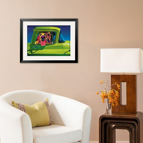 "Art.com ""I Wanna Go"" Framed Art Print by Ron Burns"