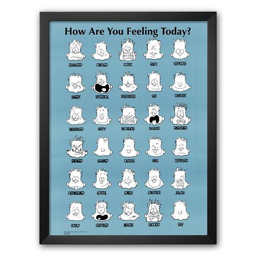 "Art.com ""How Are You Feeling Today?"" Framed Art Print by Jim Borgman"