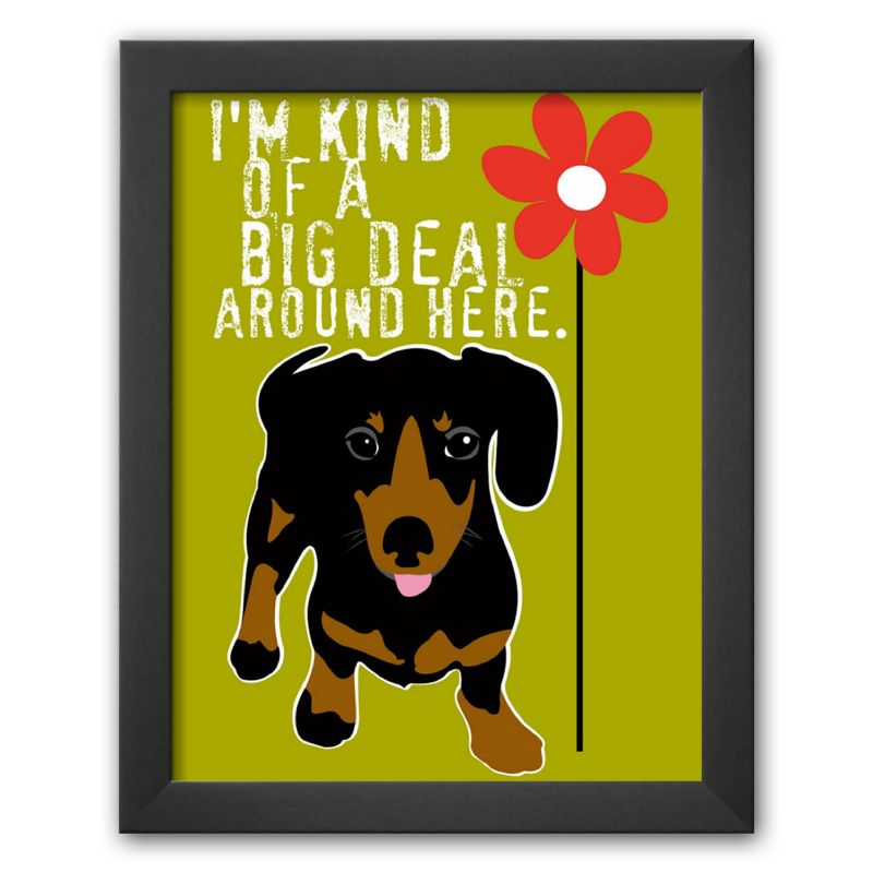 "Art.com ""Big Deal"" Framed Art Print by Ginger Oliphant"