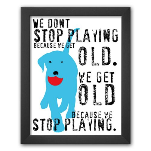 Art.com Don't Stop Playing Framed Art Print by Ginger Oliphant