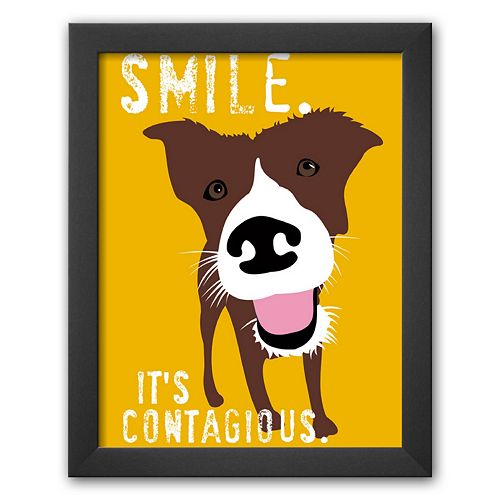 "Art.com ""Smile"" Framed Art Print by Ginger Oliphant"