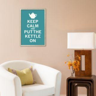 Art.com Keep Calm Tea  Framed Art Print