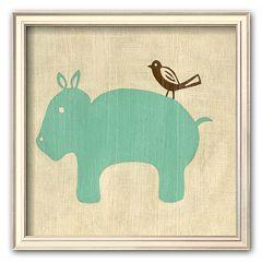Art.com 'Best Friends - Hippo' Framed Art Print