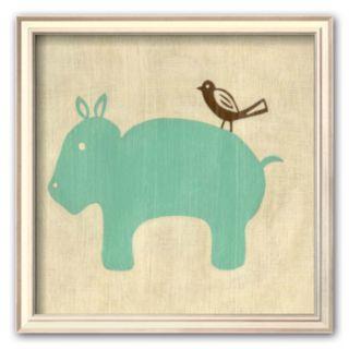 Art.com Best Friends - Hippo Framed Art Print