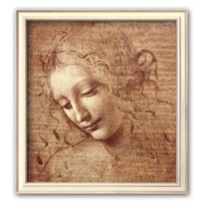 "Art.com ""Female Head (La Scapigliata), c.1508"" Small Framed Art Print by Leonardo da Vinci"
