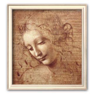 "Art.com ""Female Head (La Scapigliata), c.1508"" Small Framed Art Print by Leonardo da Vinci"
