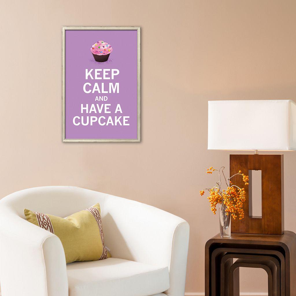 Art.com Lavender Cupcake Framed Art Print