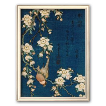 Art.com Goldfinch and Cherry Tree, c.1834 Framed Art Print