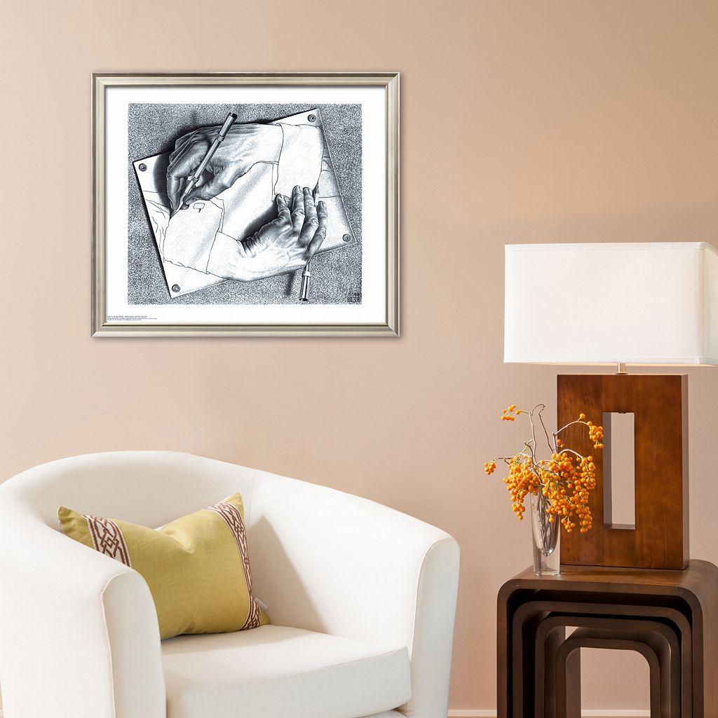 Art.com Drawing Hands Framed Art Print by M. C. Escher