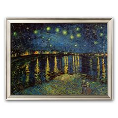 Art.com 'Starry Night Over the Rhone, c.1888' Framed Art Print by Vincent van Gogh