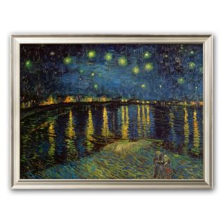 Art.com Starry Night Over the Rhone, c.1888 Framed Art Print by Vincent van Gogh