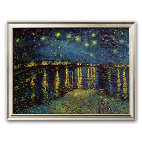 "Art.com ""Starry Night Over the Rhone, c.1888"" Framed Art Print by Vincent van Gogh"