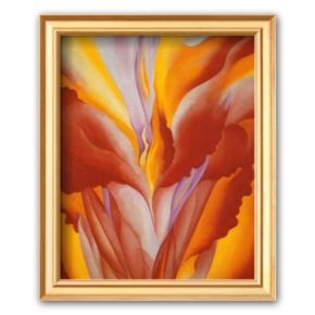 Art.com Red Canna Framed Art Print by Georgia O'Keeffe
