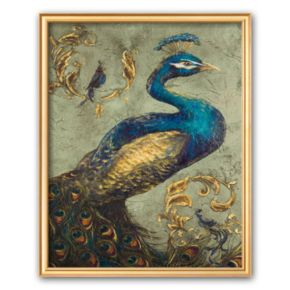 Art.com Peacock on Sage I Framed Art Print by Tiffany Hakimipour