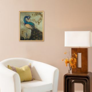 Art.com Peacock on Sage II Framed Art Print by Tiffany Hakimipour