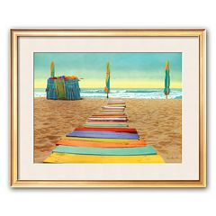 Art.com 'Beach Walk' Framed Art Print by Robin Renee Hix