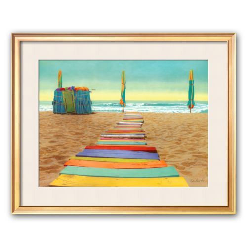 Art.com Beach Walk Framed Art Print by Robin Renee Hix