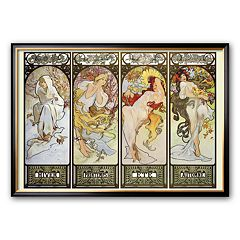 Art.com 'Les Saisons' Framed Art Print by Alphonse Mucha
