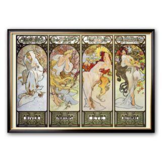 Art.com Les Saisons Framed Art Print by Alphonse Mucha