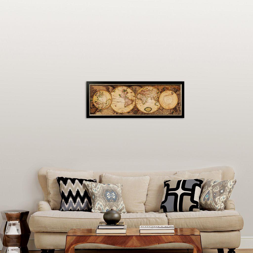 Art.com Map of the World: Nova Totius Terrarum Orbis Framed Art Print