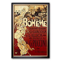 Art.com 'La Boheme, Musica di Puccini' Framed Art Print by Adolfo Hohenstein