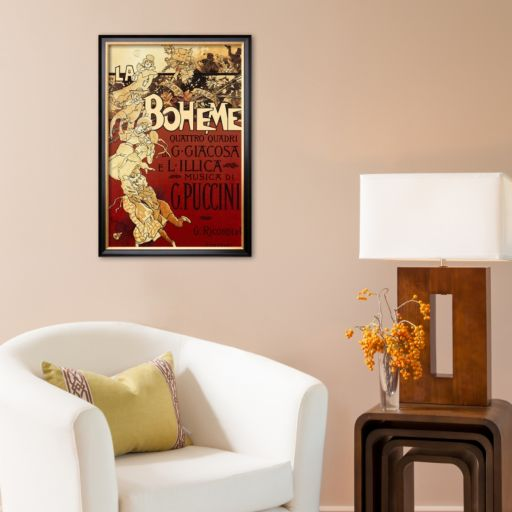 Art.com La Boheme, Musica di Puccini Framed Art Print by Adolfo Hohenstein