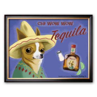 Art.com Chi Wow Wow Tequila Framed Art Print by Brian Rubenacker