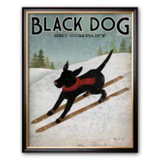 Art.com Black Dog Ski Framed Art Print by Ryan Fowler