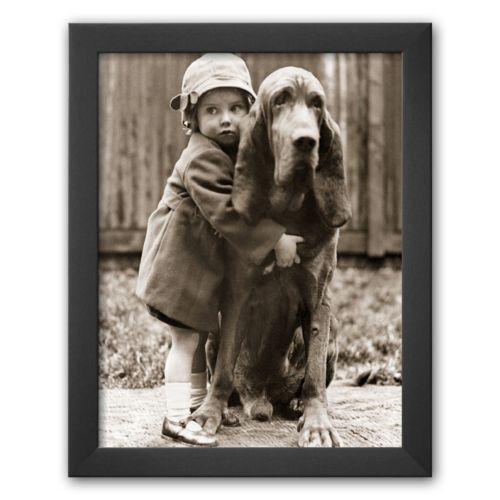 Art.com Girl's Best Friend Framed Art Print