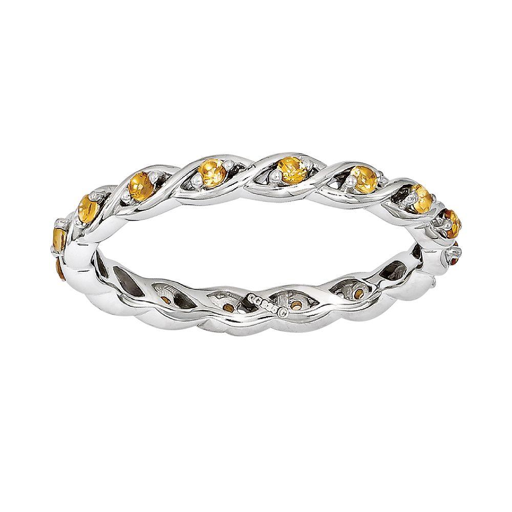 Stacks & Stones Sterling Silver Citrine Stack Ring