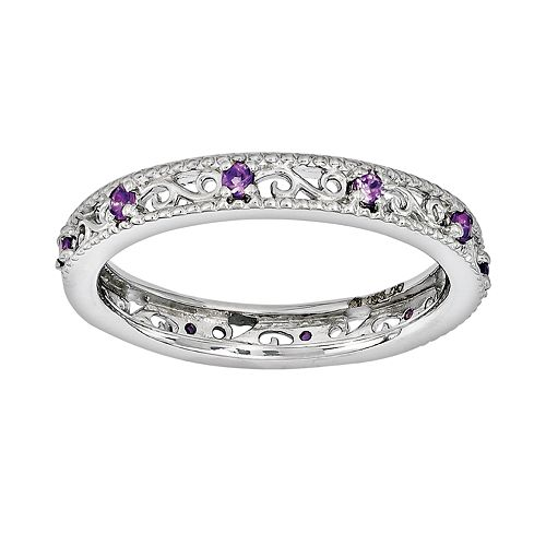 Stacks & Stones Sterling Silver Amethyst Stack Ring